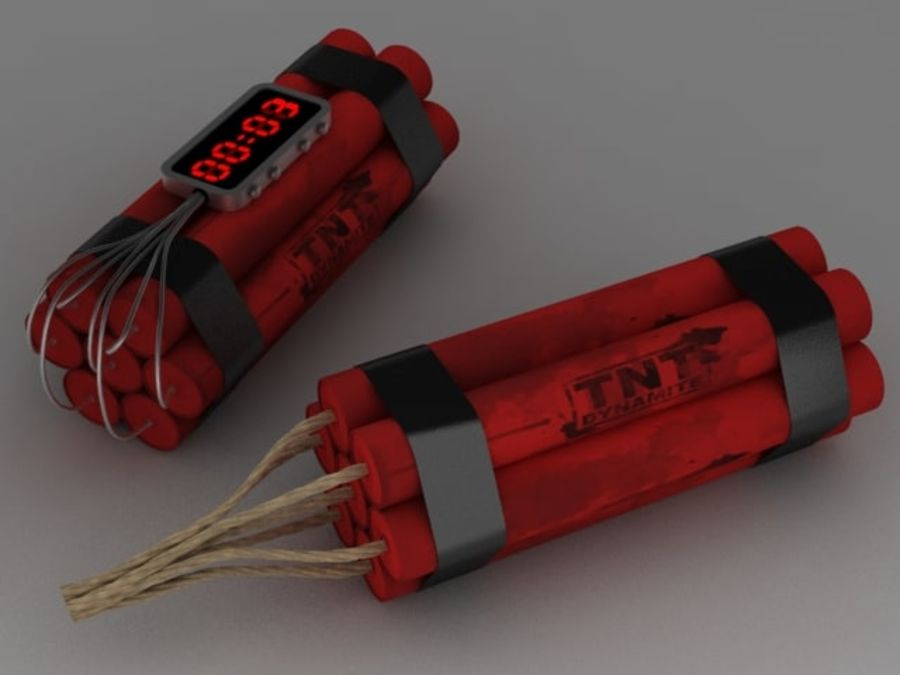 Pack TNT royalty-free 3d model - Preview no. 2