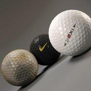 Golf balls 3d model