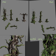 Dry Trees 3d model