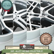 G69-ALLOY CAR RIMS COLLECTION #1 3d model