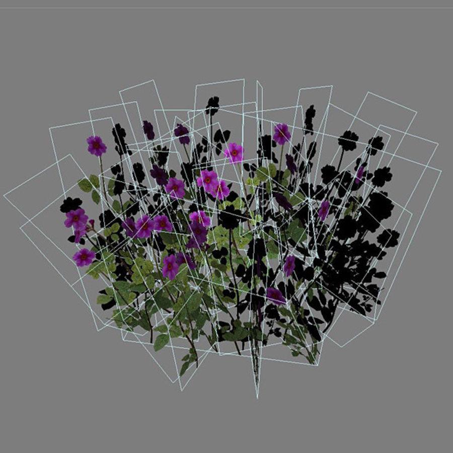 Коровник цветок куст royalty-free 3d model - Preview no. 5
