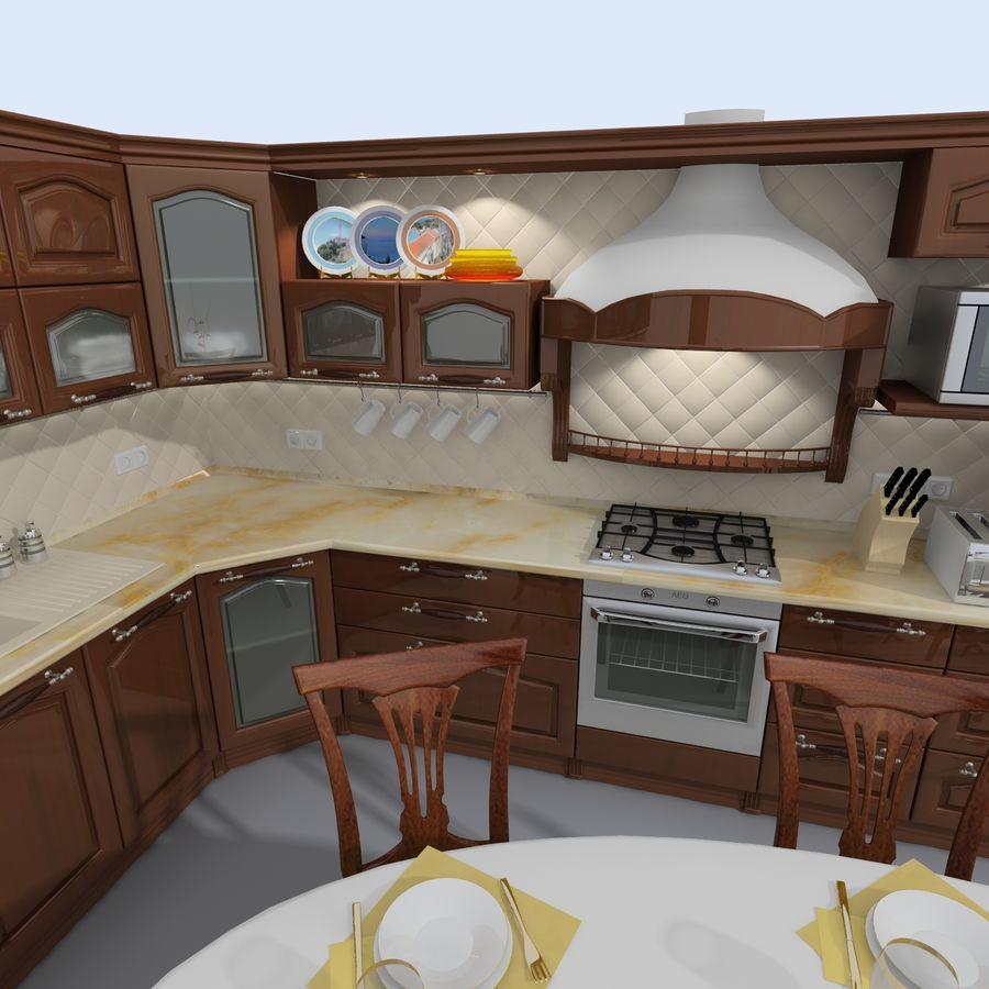 キッチンオールド3 royalty-free 3d model - Preview no. 3