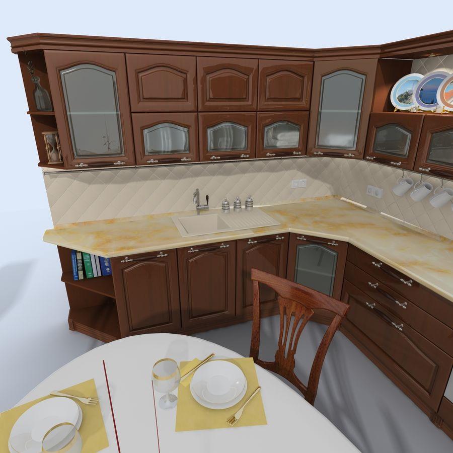 キッチンオールド3 royalty-free 3d model - Preview no. 4