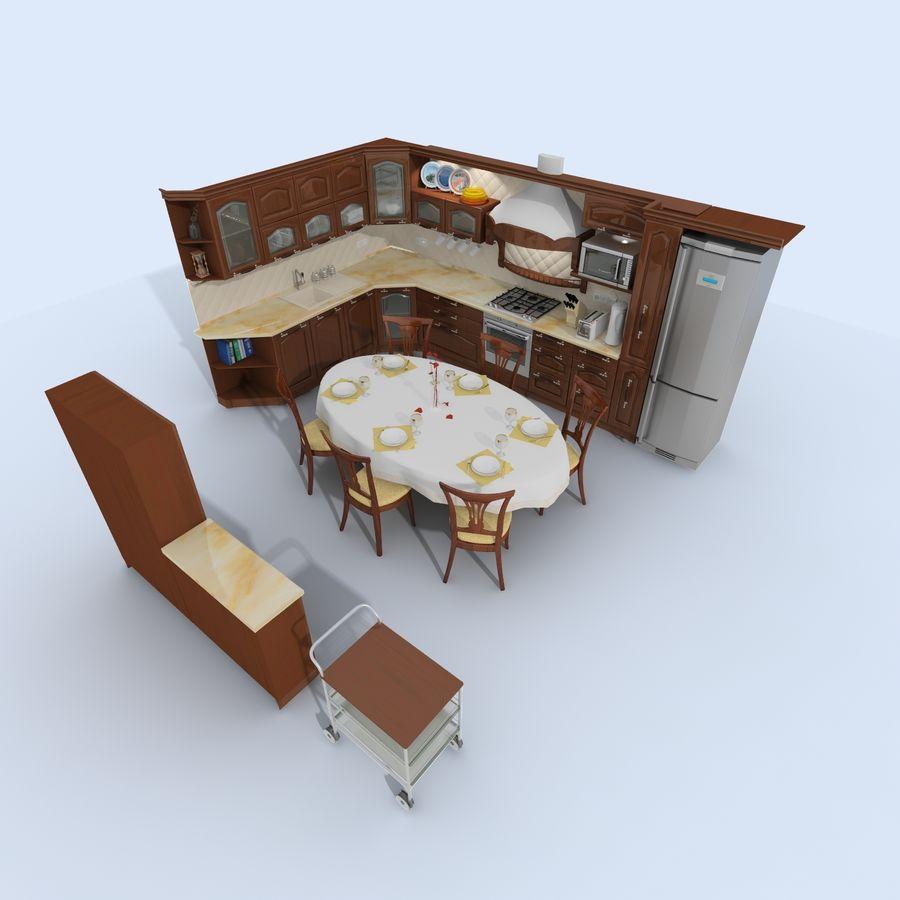 キッチンオールド3 royalty-free 3d model - Preview no. 10