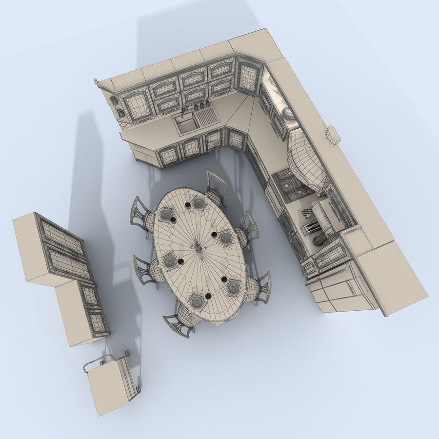 キッチンオールド3 royalty-free 3d model - Preview no. 13