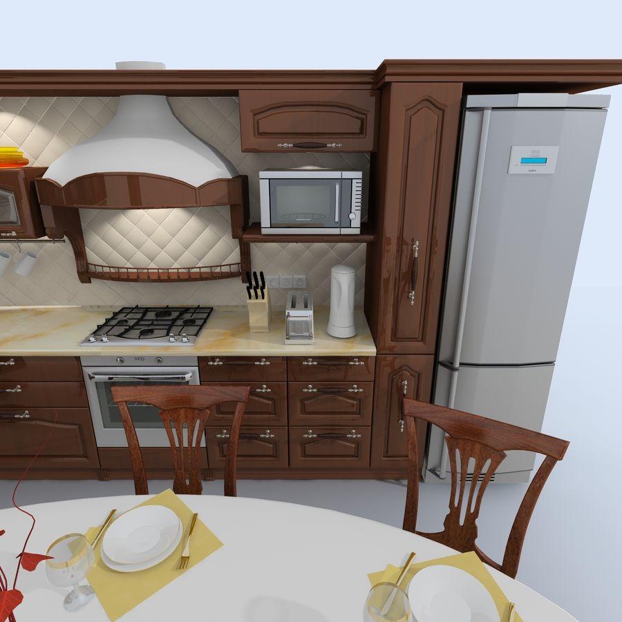キッチンオールド3 royalty-free 3d model - Preview no. 2