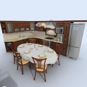 Keuken oude fasioned 3 3d model