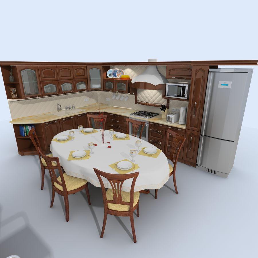 キッチンオールド3 royalty-free 3d model - Preview no. 1