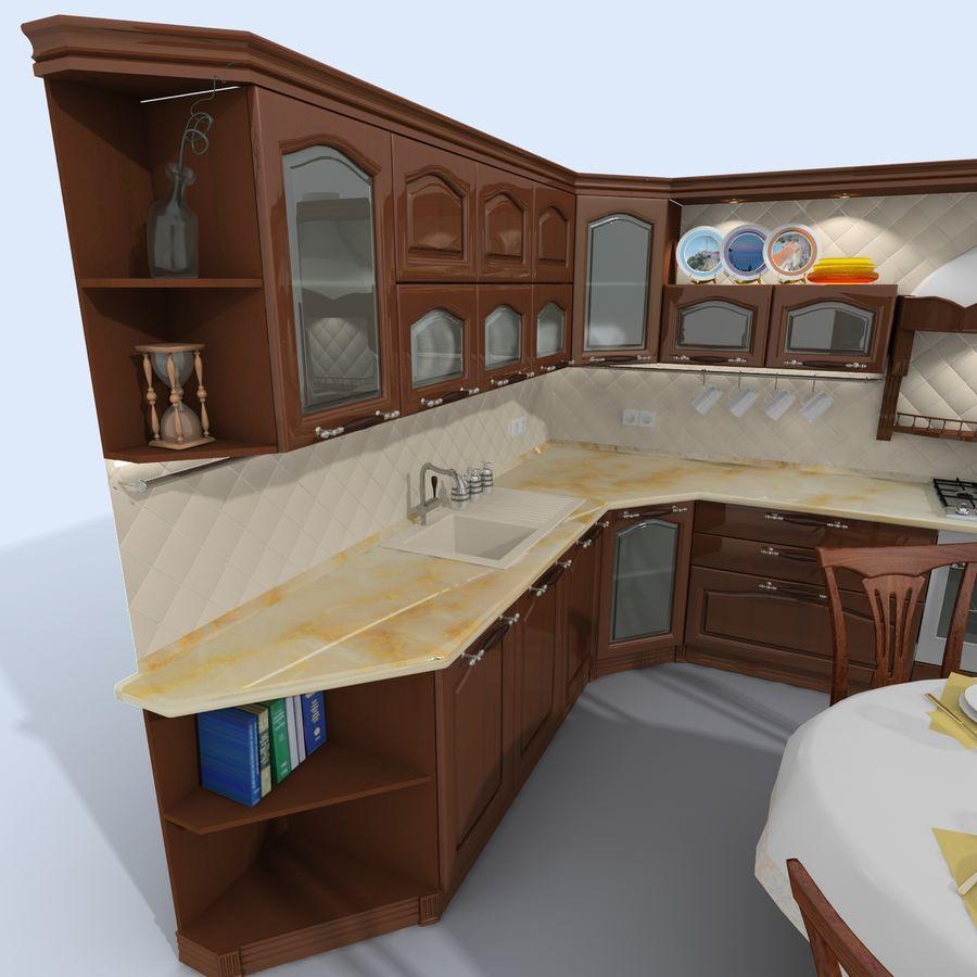 キッチンオールド3 royalty-free 3d model - Preview no. 5