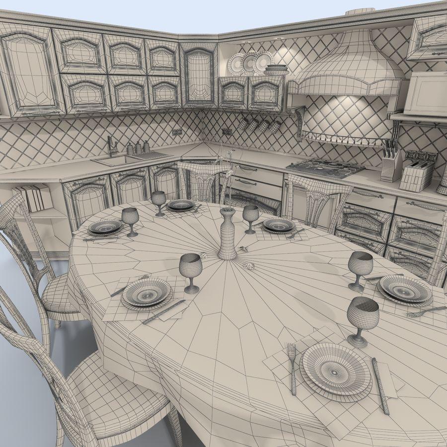 キッチンオールド3 royalty-free 3d model - Preview no. 12
