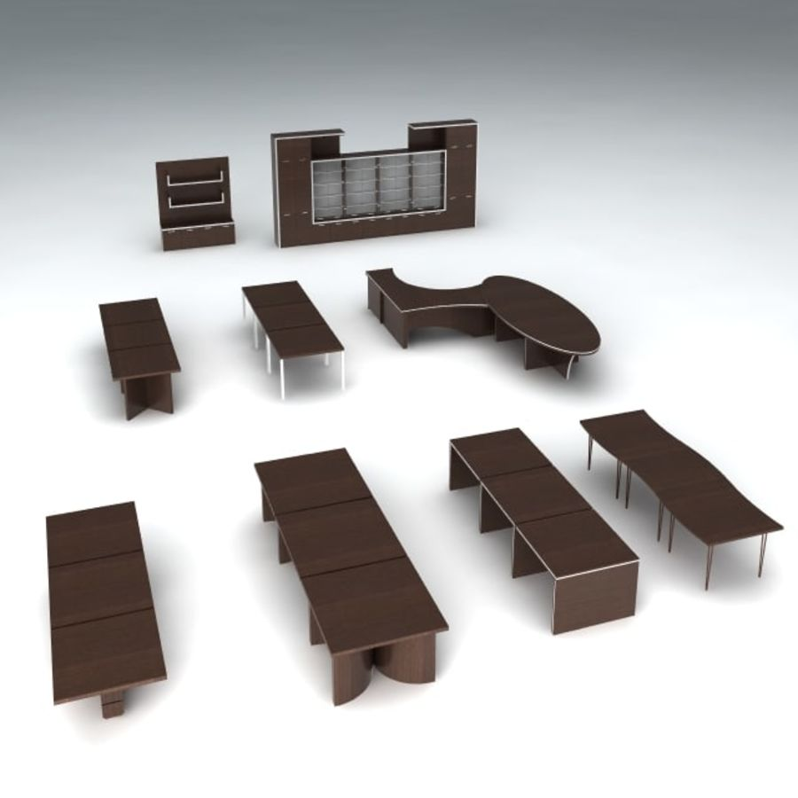 Office furniture pack v1 royalty-free 3d model - Preview no. 1