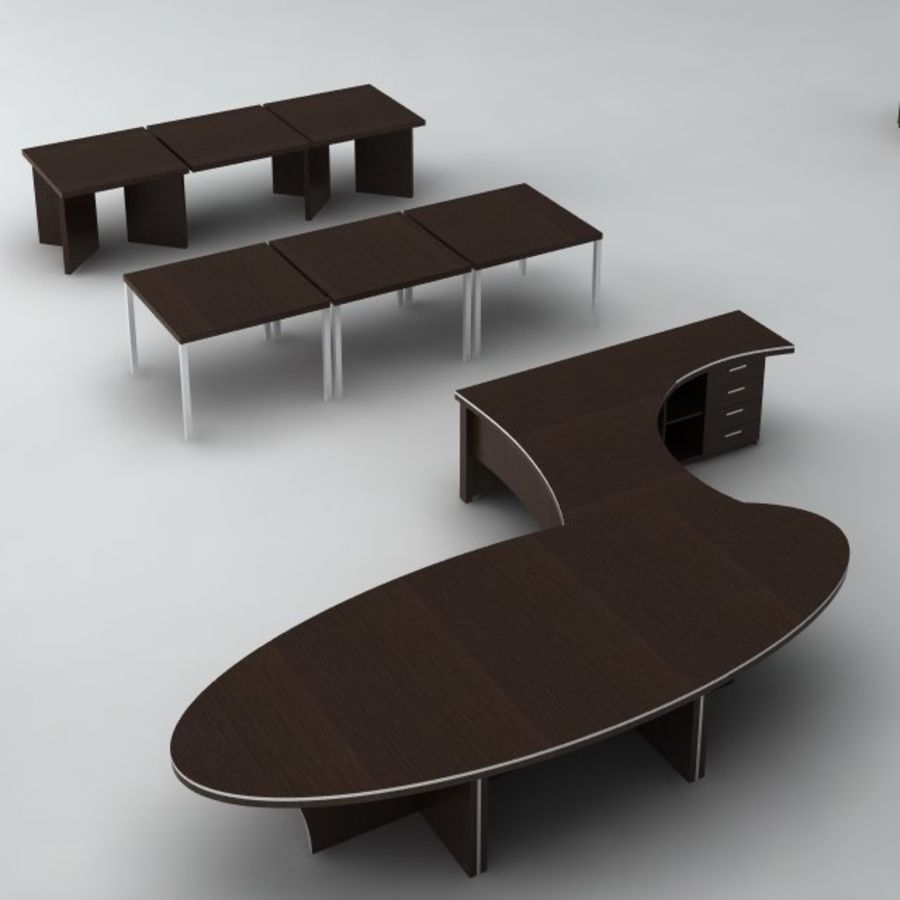 Office furniture pack v1 royalty-free 3d model - Preview no. 3
