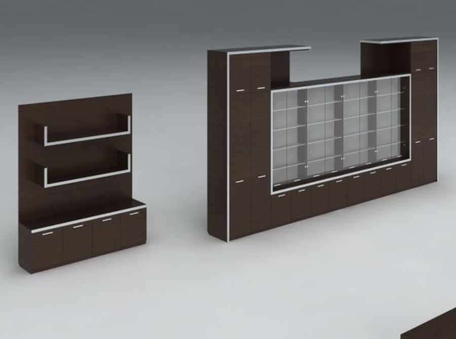 Office furniture pack v1 royalty-free 3d model - Preview no. 4