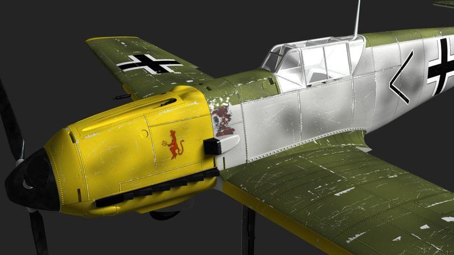 Messerschmitt ME-109 royalty-free 3d model - Preview no. 2