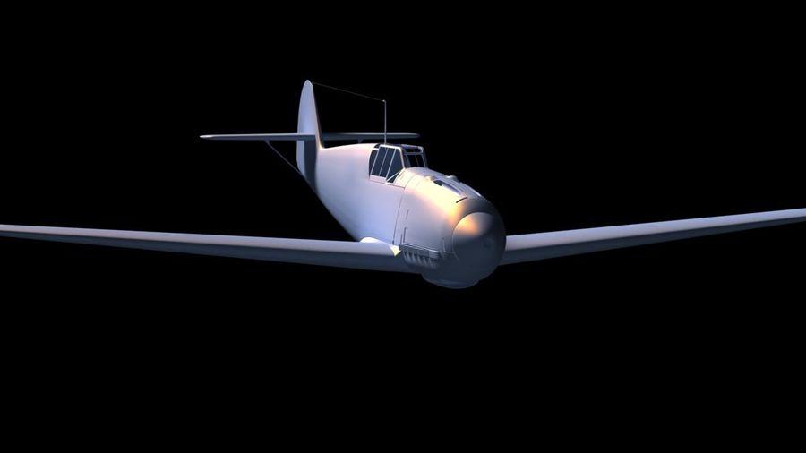 Messerschmitt ME-109 royalty-free 3d model - Preview no. 14
