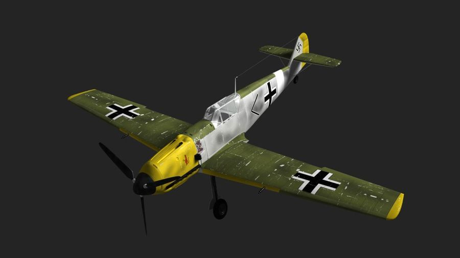 Messerschmitt ME-109 royalty-free 3d model - Preview no. 3