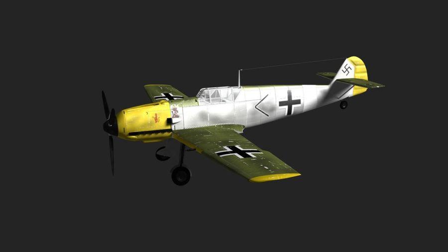 Messerschmitt ME-109 royalty-free 3d model - Preview no. 4