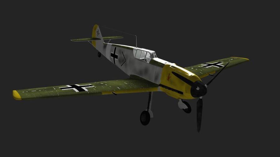 Messerschmitt ME-109 royalty-free 3d model - Preview no. 6