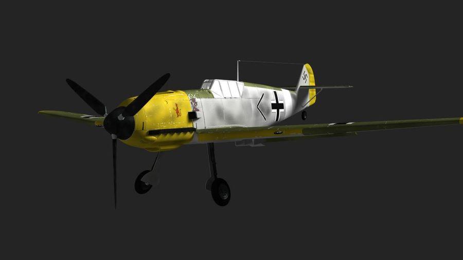 Messerschmitt ME-109 royalty-free 3d model - Preview no. 10