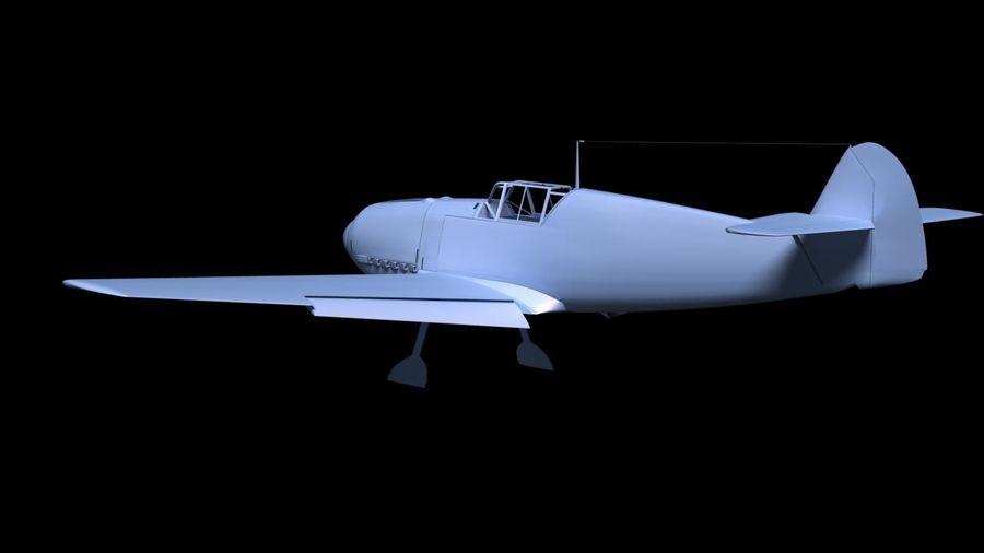 Messerschmitt ME-109 royalty-free 3d model - Preview no. 17