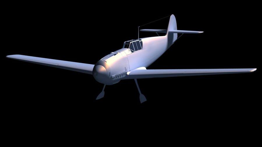 Messerschmitt ME-109 royalty-free 3d model - Preview no. 16