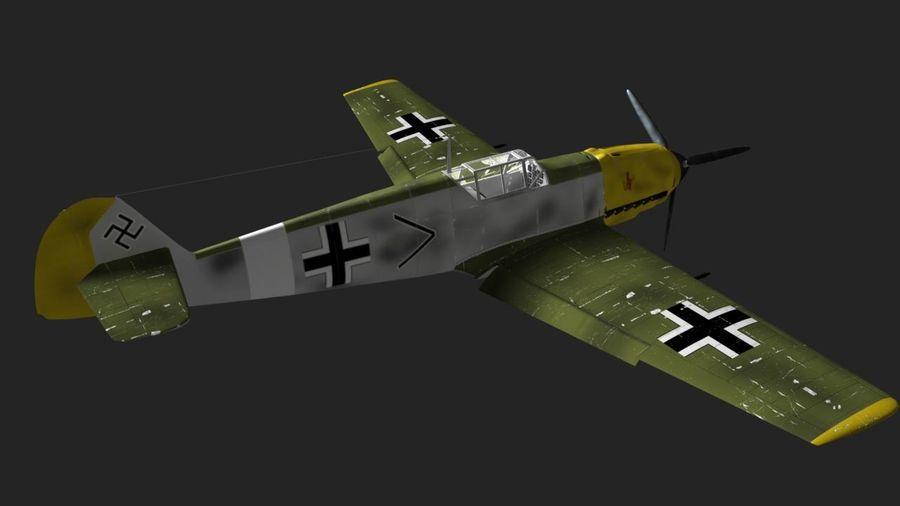 Messerschmitt ME-109 royalty-free 3d model - Preview no. 8