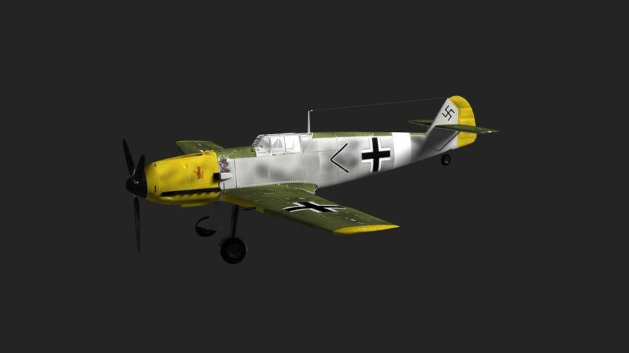 Messerschmitt ME-109 royalty-free 3d model - Preview no. 9