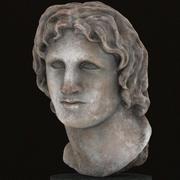 Александр мраморный портрет 3d model