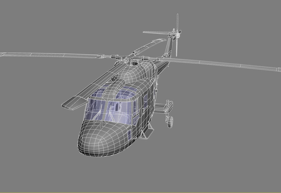 Lekki model śmigłowca armii Lynx royalty-free 3d model - Preview no. 15