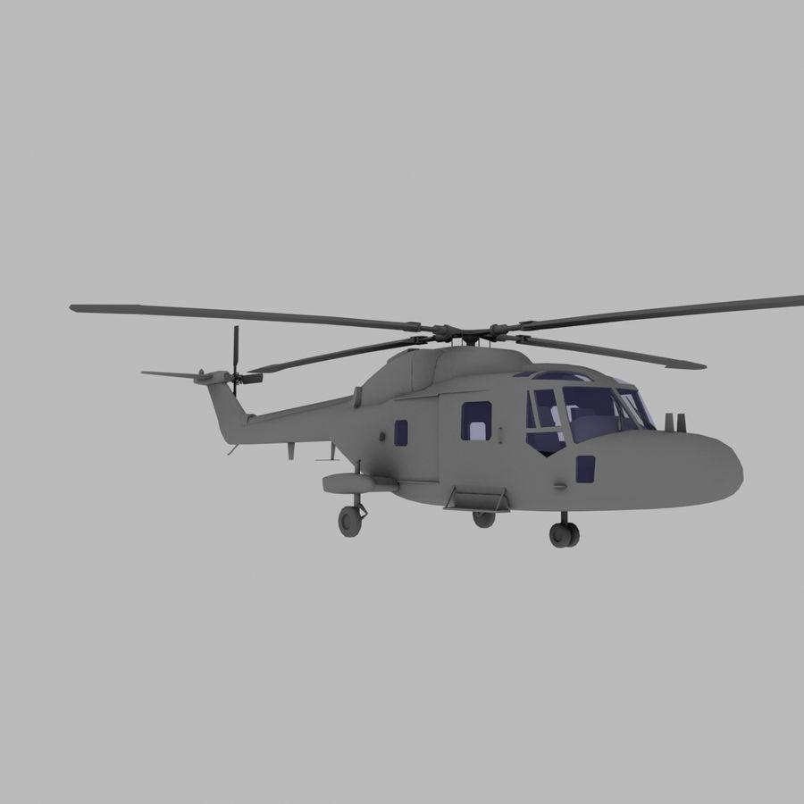 Lekki model śmigłowca armii Lynx royalty-free 3d model - Preview no. 8