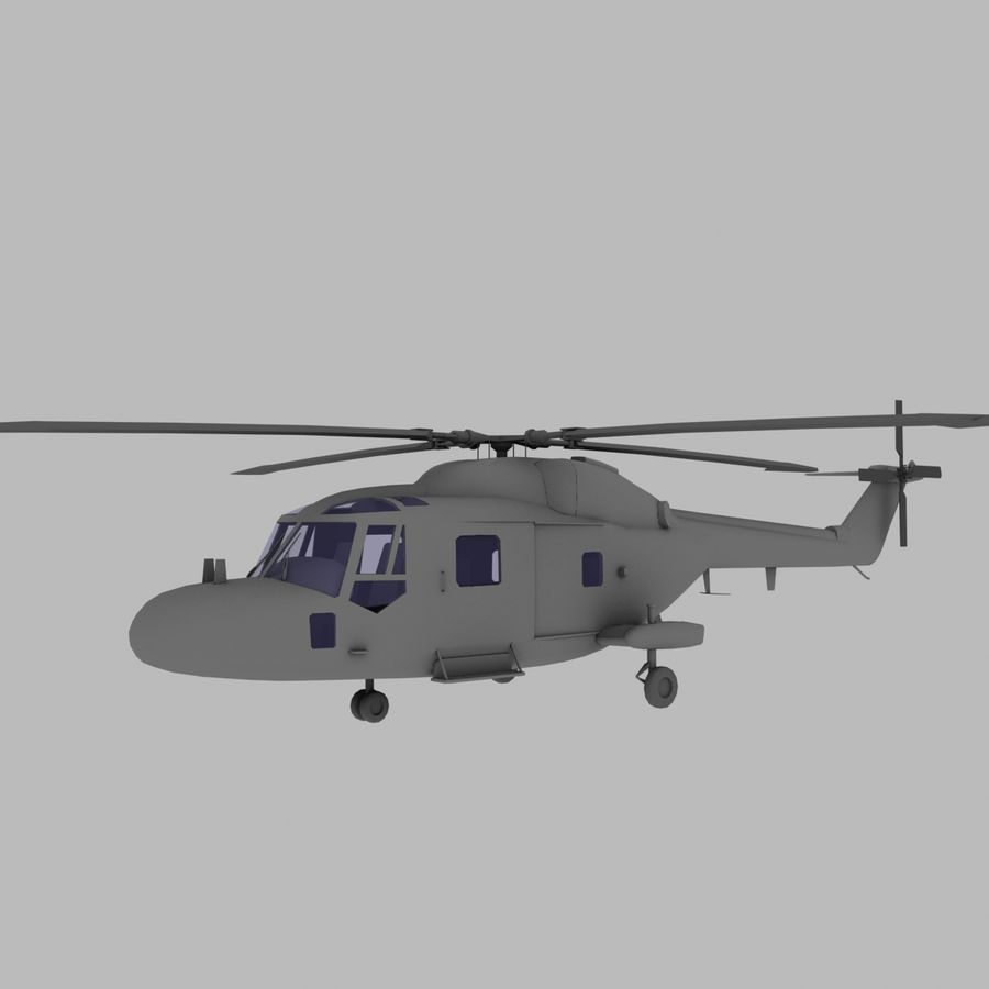 Lekki model śmigłowca armii Lynx royalty-free 3d model - Preview no. 1