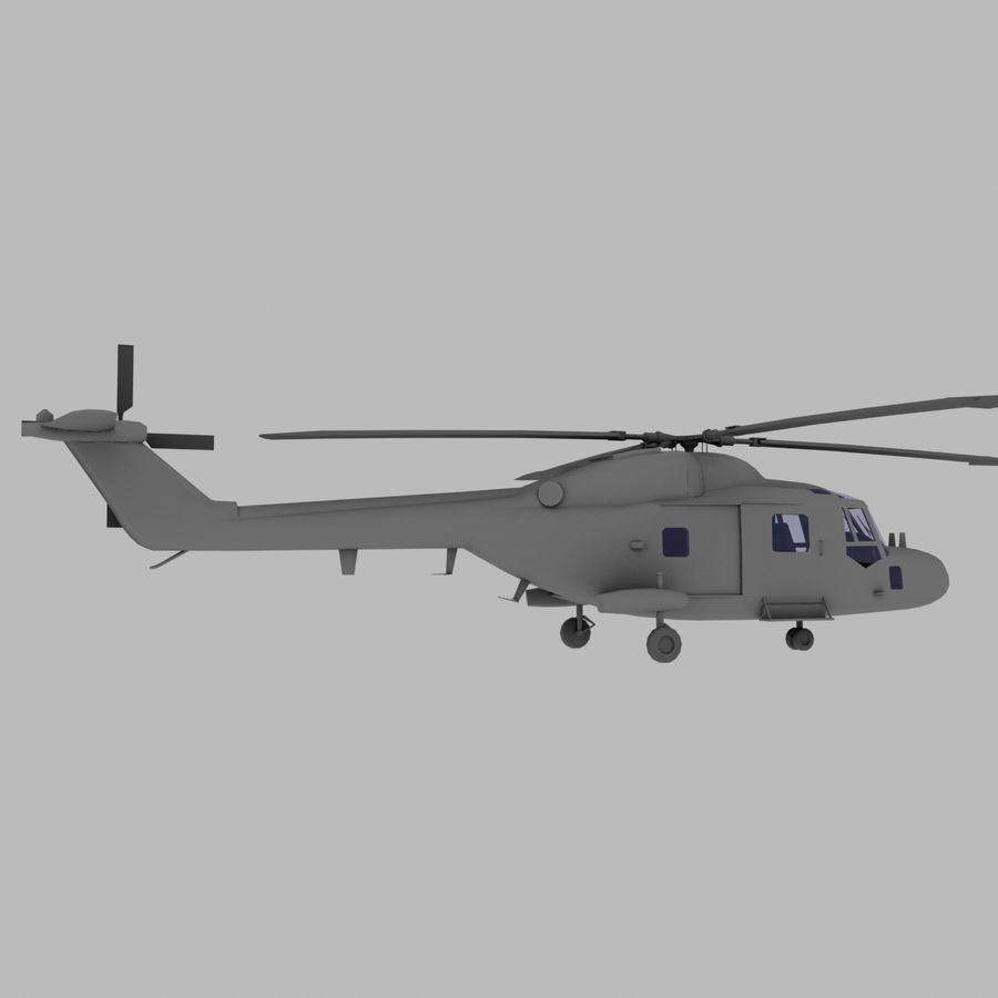 Lekki model śmigłowca armii Lynx royalty-free 3d model - Preview no. 7