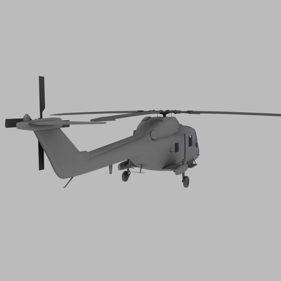 Lekki model śmigłowca armii Lynx royalty-free 3d model - Preview no. 6