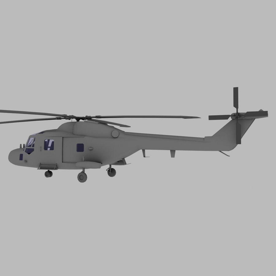 Lekki model śmigłowca armii Lynx royalty-free 3d model - Preview no. 3