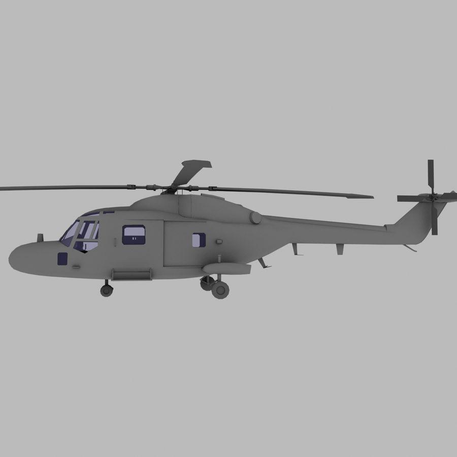 Lekki model śmigłowca armii Lynx royalty-free 3d model - Preview no. 2