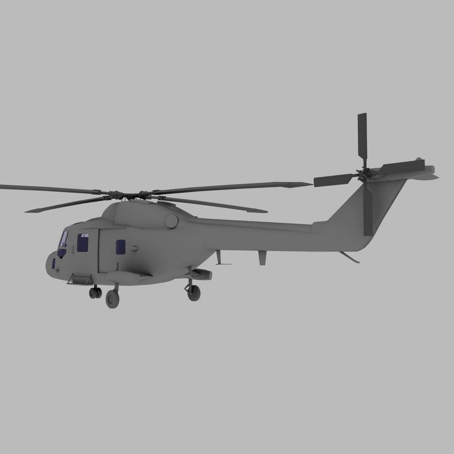 Lekki model śmigłowca armii Lynx royalty-free 3d model - Preview no. 4