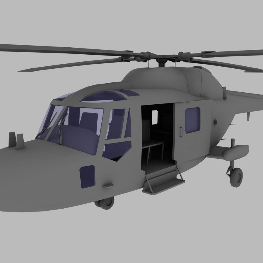 Lekki model śmigłowca armii Lynx royalty-free 3d model - Preview no. 12
