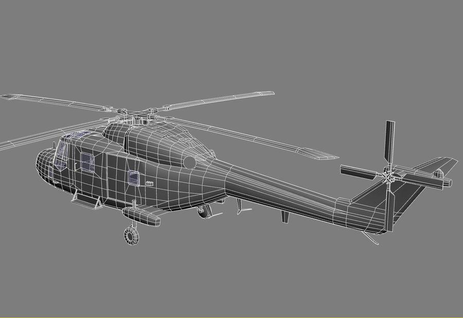 Lekki model śmigłowca armii Lynx royalty-free 3d model - Preview no. 18