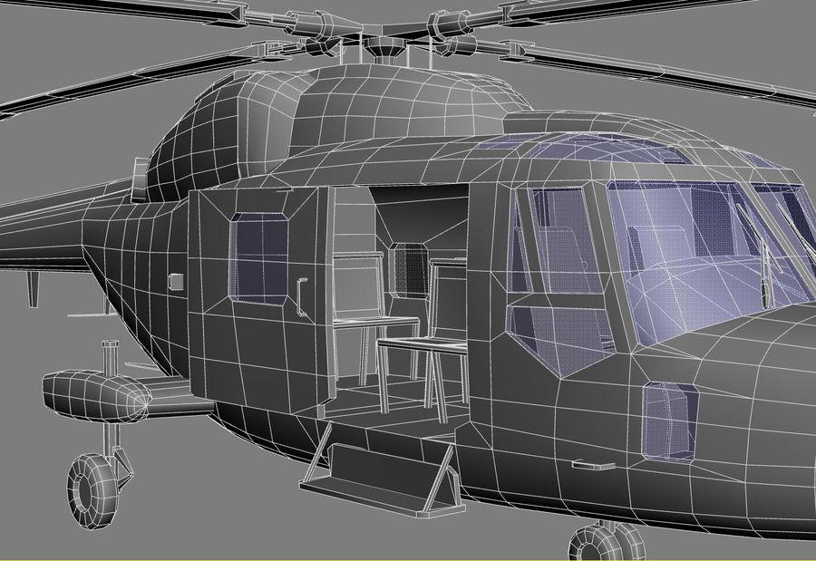 Lekki model śmigłowca armii Lynx royalty-free 3d model - Preview no. 26