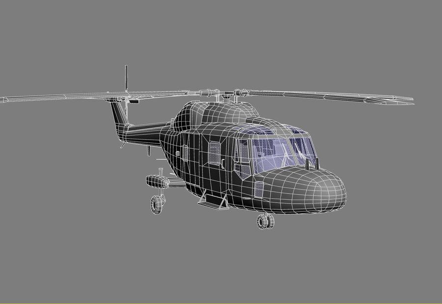 Lekki model śmigłowca armii Lynx royalty-free 3d model - Preview no. 14