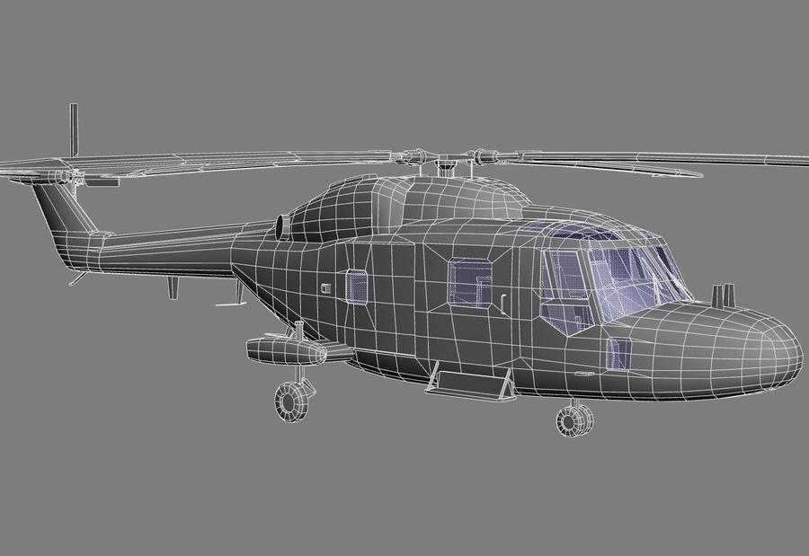 Lekki model śmigłowca armii Lynx royalty-free 3d model - Preview no. 13