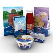Gıda paketleri 3d model