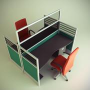 Cubicle Workstation 7 3d model