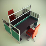 Cubicle Workstation 7 3d model