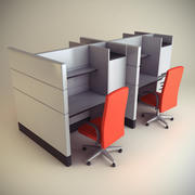 Cubicle Workstation 05 3d model