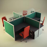 Cubicle Workstation 10 3d model