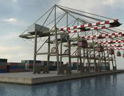 Portkran und Container 3d model