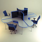 Cubicle Workstation 04 3d model