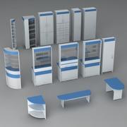 Pacote de mobília de farmácia v1 3d model
