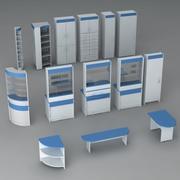 Eczane mobilya paketi v1 3d model